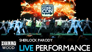 """The Hillywood Show® performs their Sherlock Parody LIVE at Salt Lake City Comic Con 2016 in front of 5,000 Fans!  _____________________ WATCH BONUS FEATURES FROM SHERLOCK PARODY ⭐️Sherlock Parody: https://youtu.be/ArdWL2uKf7kGag Reel: https://youtu.be/3Bz0E8r3-fAThe Official Behind The Scenes: https://youtu.be/BYicg53SWD4Sherlock's Video Diary: https://youtu.be/u7_ZIQLYSu4Sherlock Parody Merchandise: www.ShopHillywood.com_____________________ • Performed at:http://saltlakecomiccon.com/• Choreographed by:Matthew Guerrero, Ro Malaga, Hilly Hindi and Hannah Hindi• Music:""""221B"""" - The Hillywood Show®John Hoge - http://www.johnhogemusic.com/Seda Baykara - https://youtu.be/TgAWG-1fSgg""""Sherlock Remix""""Gyrotron: https://soundcloud.com/gyrotron• Footage provided by:http://saltlakecomiccon.com/http://comiccon.tips/_____________________ DONATE TO HELP  HILLYWOOD® ❤️http://www.Patreon.com/Hillywood_____________________ FOLLOW THE HILLYWOOD SHOW ⭐️Subscribe: http://www.youtube.com/subscription_center?add_user=JckSparrowWebsite: http://www.TheHillywoodShow.comMerchandise: http://www.ShopHillywood.comTwitter: http://www.Twitter.com/HillywoodShowFacebook: http://www.Facebook.com/TheHillywoodShowTumblr: http://www.TheHillywoodShow.Tumblr.comInstagram: http://www.Instagram.com/TheHillywoodShowE-mail For Business/Press Inquiries: TheHillywoodShow@aol.com_____________________FOLLOW HILLY ⭐️Twitter: http://www.Twitter.com/HillyHindiFacebook: http://www.Facebook.com/HillyHindiOfficialInstagram: http://www.Instagram.com/HillyHindiTumblr: http://www.HillyHindi.Tumblr.comSnapchat: HillyHindi______________________FOLLOW HANNAH ⭐️Twitter: http://www.Twitter.com/HannahHindiFacebook: https://www.facebook.com/pages/Hannah-Hindi-The-Official-Page/102206209819456?fref=tsInstagram: http://www.Instagram.com/HannahHindiOfficialTumblr: http://www.HannahHindi.Tumblr.com______________________"""