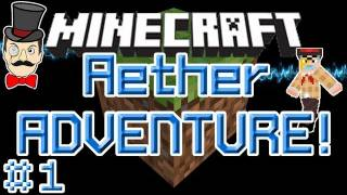 Minecraft Aether ADVENTURE #1! Escape to Aether with Only a Bucket!