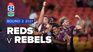 Reds v Rebels Rd.2 2021 Super rugby AU video highlights | Super Rugby Video Highlights