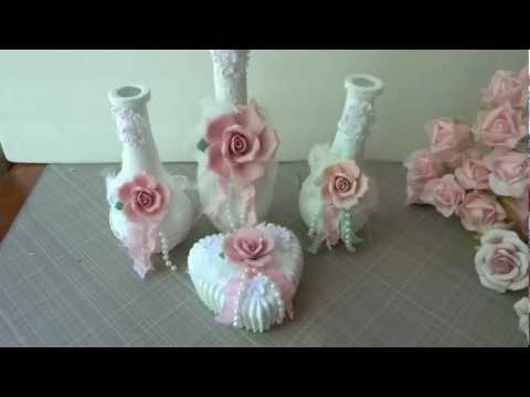 vaso in stile shabby chic