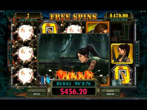 Girls With Guns - a busty 169x win in Free Spins!