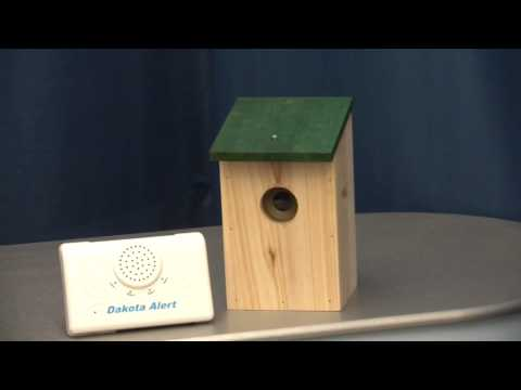 Dakota 2500 Wireless Driveway Alarm with Wooden Bird-box