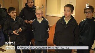 Autun France  City pictures : LE FEUILLETON : À Autun, ces collégiens marchent au pas