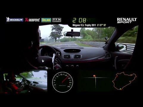 "Renault Mégane RS 275 Trophy-R Nürburgring Record 7'54""36 / FULL LAP"