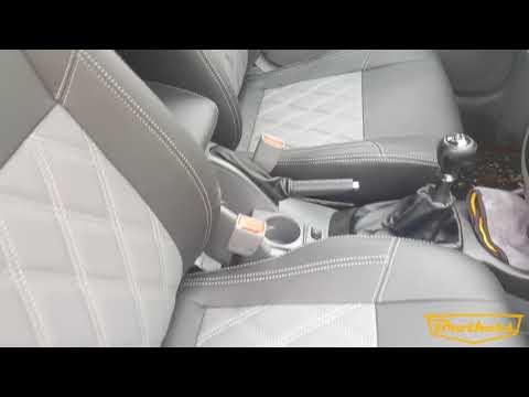 "Чехлы на Chevrolet Lacetti, серии ""Premium"" - серая строчка"