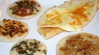 Uttappam and Egg Dosa Recipe - Cuisine from Southern India