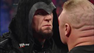 Brock Lesnar is surprised by the return of The Undertaker Raw, Feb