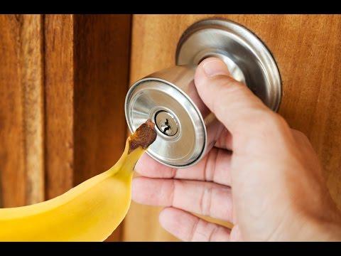 come aprire porta utilizzando una banana!