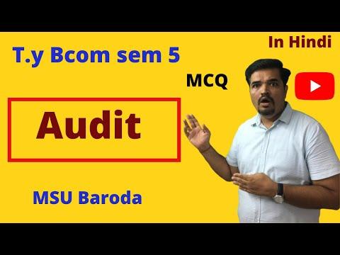 Audit Revisin ! Audit program, audit document and audit file  sem 5   MCQ Revision ! Unit  2
