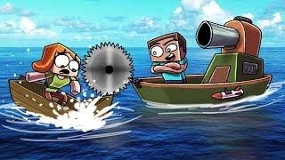 Minecraft   ULTIMATE BOAT FORTS ROYAL RUMBLE! (Secure Boat Wars Challenge)