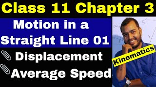 Class 11 Physics Chapt 03 : KINEMATICS : Motion in a Straight Line 01: Introduction || Average Speed