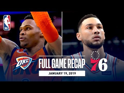 Video: Full Game Recap: Thunder vs 76ers | OKC & PHI Battle Down To The Wire!