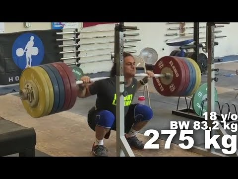 Harrison Maurus - (85, 18 Y/o) - Olympic Weightlifting Training