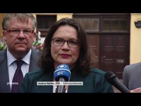 Andrea Nahles (SPD) zur Versetzung von Maaßen und zu  ...