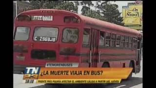 Tema del día: ¿La muerte viaja en bus?