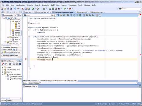 Oracle Training | ADF 11g Training | How to Create Contextual Events and Regions in Oracle ADF