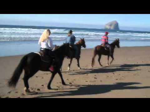 Horseback riding in Pacific City Oregon