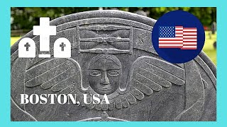 Boston (MA) United States  City new picture : BOSTON, America's oldest (1650s) and most historic cemetery at Copp's Hill (USA)