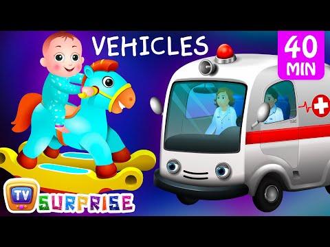 Preschool Songs Surprise Eggs Street Vehicles For Kids