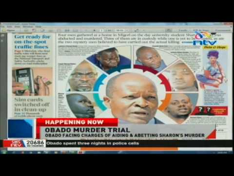 Governor Okoth Obado in Milimani courts awaiting murder charges of Sharon Otieno.