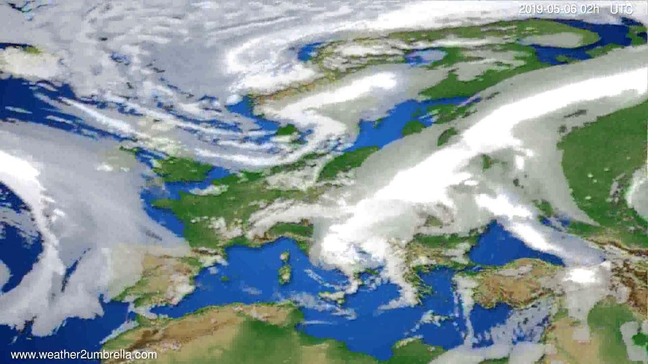 Cloud forecast Europe // modelrun: 12h UTC 2019-05-03