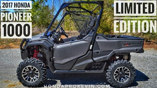 2. 2017 Honda Pioneer 1000 Limited Edition Review of Specs & Features / UTV Walk-Around | SXS10M3LE