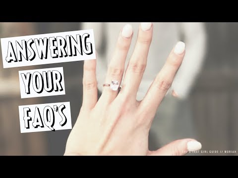 FAQ'S ABOUT MY ENGAGEMENT RING - MORGANITE | Moriah Robinson