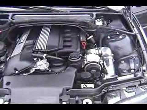 E46 BMW AA Supercharged 325Ci Small Burnout