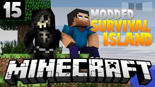 LUCKY BLOCK ENDER DRAGON FIGHT! [15] ( Modded Survival Island ) w/AciDic BliTzz&Taz!