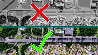 Reduce Traffic by Ripping out the OLD & Build a NEW Super Highway in Cities Skylines!