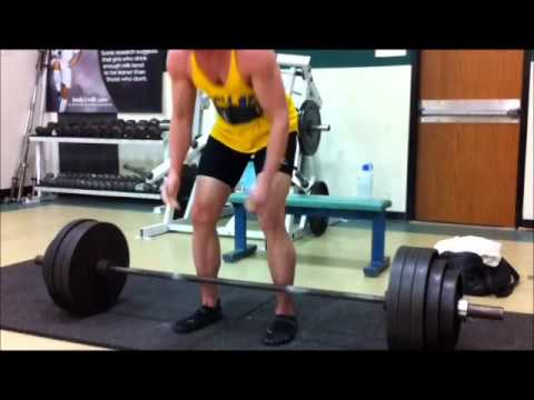 460 Lbs.Deadlift @ 185lbs. & 60 Years Old 1RM.wmv