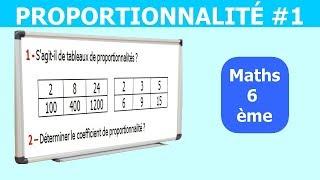 Maths 6ème - La proportionnalité 1 Exercice 1