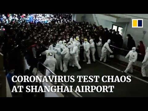 Shanghai airport briefly overwhelmed by mass testing after cargo worker Covid-19 case cluster
