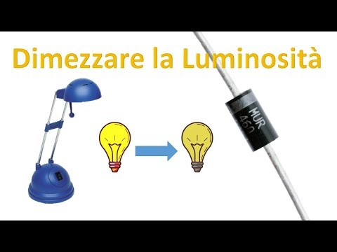 Come dimezzare la luminosità di una lampada alogena