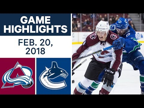 Video: NHL Game Highlights | Avalanche vs. Canucks - Feb. 20, 2018
