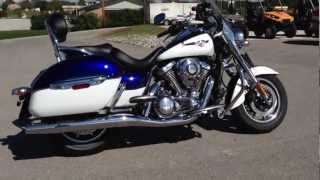 6. 2013 Kawasaki Vulcan 1700 Nomad in Blue and White at Tommy's MotorSports