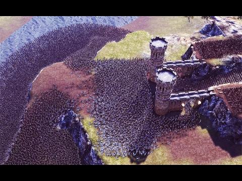 25,000 Knights vs 5,000 Defenders. Castle siege.