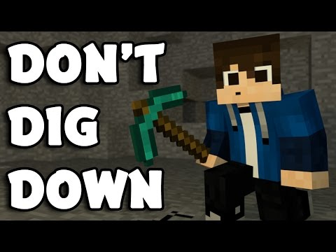 "♪ ""Don't Dig Down"" - A Minecraft Song Parody Of ""Don't Look Down"" By Martin Garrix (Music Video)"