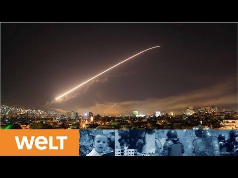 Erste alliierte Angriffswelle mit hundert Raketen t ...