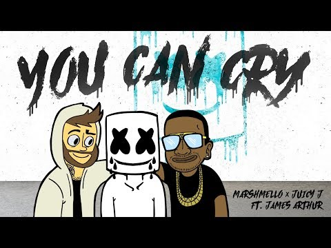 Marshmello x Juicy J - You Can Cry (Ft. James Arthur) (Official Lyric Video)