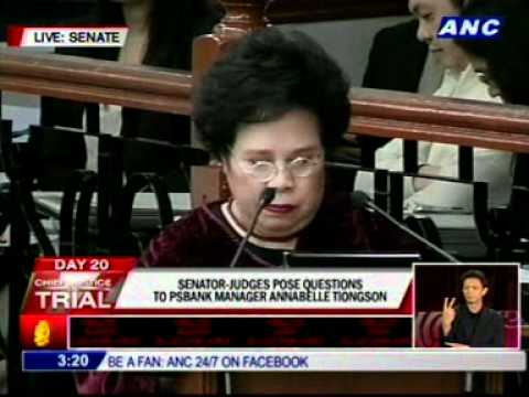 Santiago to Tiongson: You're acting pursuant to the language of the law