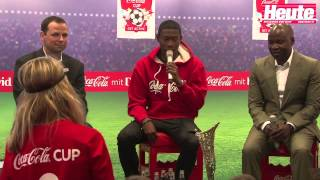 Heute.at bei der CocaCola Pressekonferenz mit David Alaba