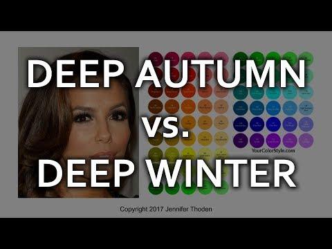 Deep Autumn vs Deep Winter - Seasonal Color Analysis