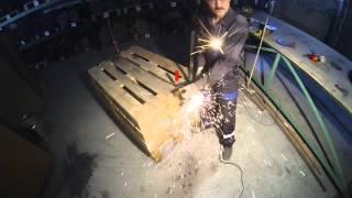 Видео Тест отрезного круга Abraflex  A-30 Standart BF 125x2,5х22,23