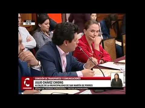 JULIO CHÁVEZ EN EL CONGRESO DE LA REPÚBLICA