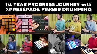 1st Year Progress Journey with XpressPads Finger Drumming