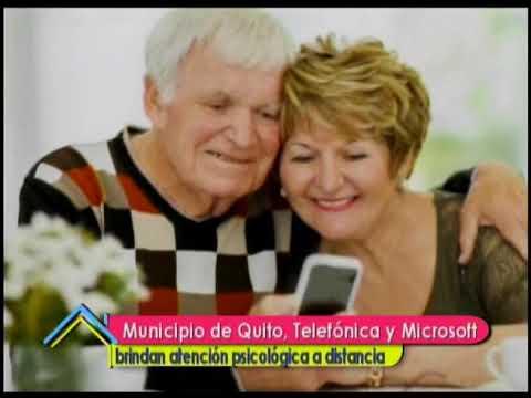 Municipio de Quito, Telefónica y Microsoft brindan atención psicológica a distancia