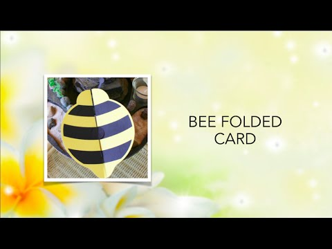 Bee Folded Card