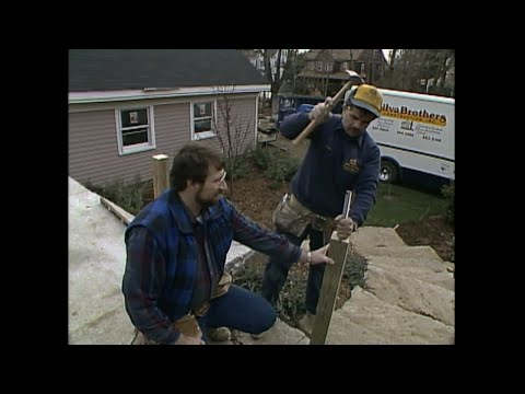 Tom and Norm install a patio railing 1988