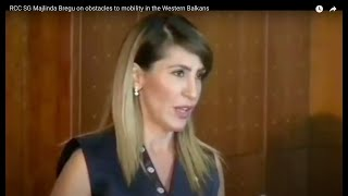 RCC SG Majlinda Bregu on obstacles to mobility in the Western Balkans
